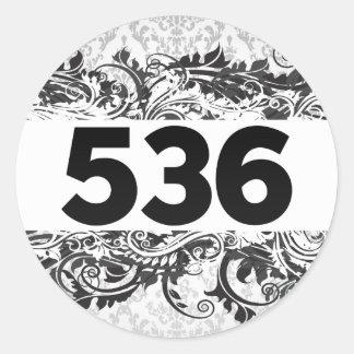 536 PEGATINA REDONDA