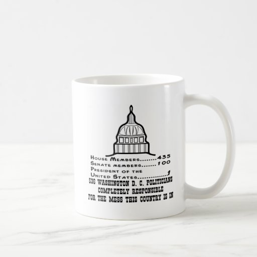536 Washington DC Politicians Are Responsible Coffee Mug