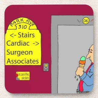 538 stairs cartoon beverage coasters