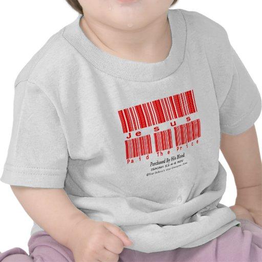 53:4 de Isaías - diseño 6 (Jesús pagó el precio) Camisetas
