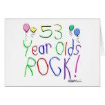 ¡53 años de la roca! tarjetas