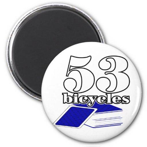 53 bicicleta-W-Azul Iman De Frigorífico
