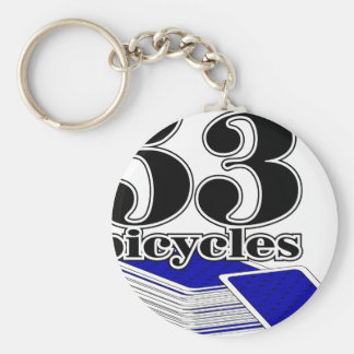 53-bicycles-Blue Keychain