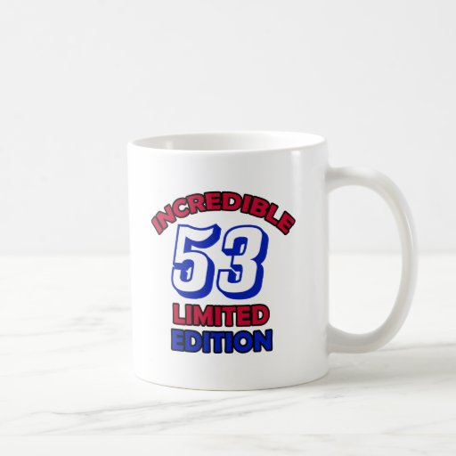 53 Birthday Design Classic White Coffee Mug