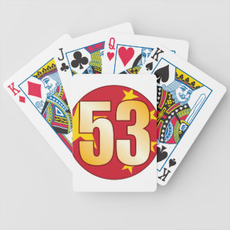53 CHINA Gold Bicycle Playing Cards