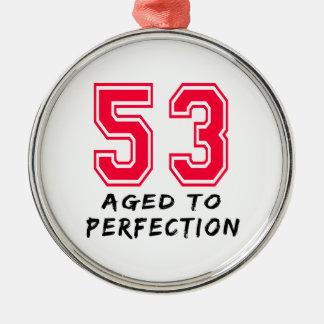 53 envejeció al diseño del cumpleaños de la perfec adorno de navidad