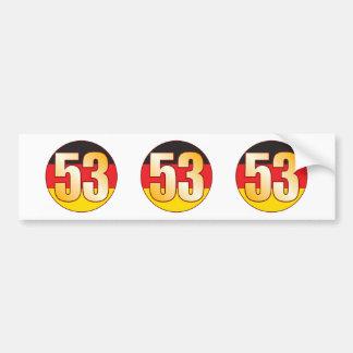 53 GERMANY Gold Bumper Sticker