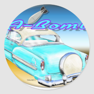 53_lowrider.jpg classic round sticker