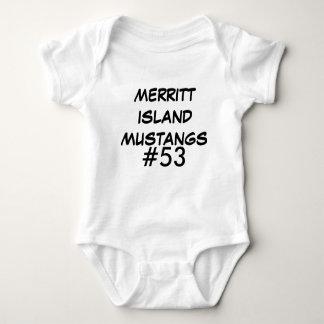 #53, MERRITT ISLAND MUSTANGS BABY BODYSUIT