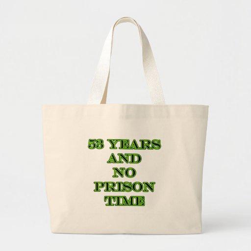 53 ninguna hora de prisión bolsa tela grande