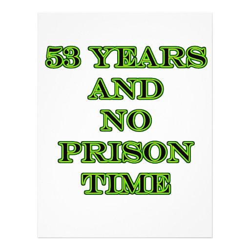 """53 ninguna hora de prisión folleto 8.5"""" x 11"""""""