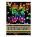 53.o Invitación de la fiesta de cumpleaños con las