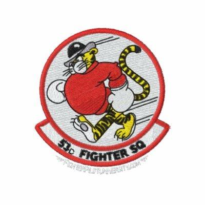 53.o Polo W/F-15 de TFS e indicativo (polo oscuro)