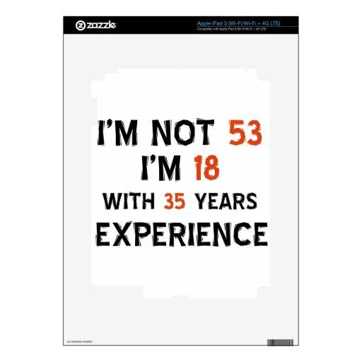 53.os diseños del cumpleaños pegatinas skins para iPad 3