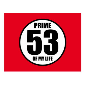 53 - prime of my life postcard