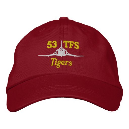 53 TFS F-4 Golf Hat Embroidered Hats