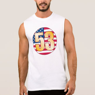 53 USA Gold Sleeveless Shirt