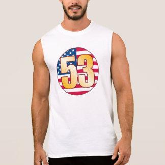 53 USA Gold Sleeveless Shirt