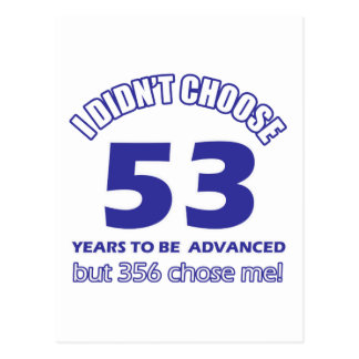 53 years advancement postcard