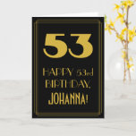 "[ Thumbnail: 53rd Birthday – Art Deco Inspired Look ""53"" & Name Card ]"