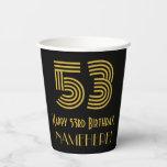 "[ Thumbnail: 53rd Birthday: Art Deco Inspired Look ""53"" & Name ]"