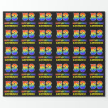 [ Thumbnail: 53rd Birthday: Bold, Fun, Simple, Rainbow 53 Wrapping Paper ]