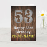 [ Thumbnail: 53rd Birthday: Country Western Inspired Look, Name Card ]