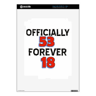 53rd birthday designs skin for the iPad 2