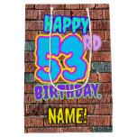 [ Thumbnail: 53rd Birthday: Fun, Urban Graffiti Inspired Look Gift Bag ]
