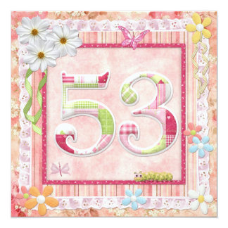 53rd birthday party scrapbooking style card