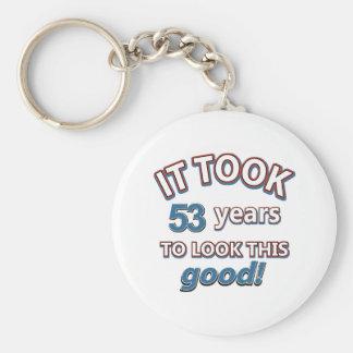 53rd year birthday designs keychain