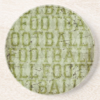 5417_football SPORTS TYPOGRAPHY FOOTBALL GREENS TE Drink Coaster