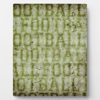 5417_football SPORTS TYPOGRAPHY FOOTBALL GREENS TE Display Plaques