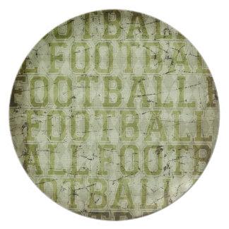 5417_football SPORTS TYPOGRAPHY FOOTBALL GREENS TE Plate