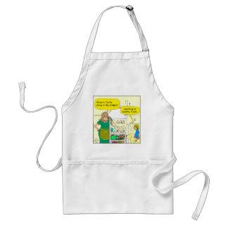 541 turtle in crisper cartoon adult apron