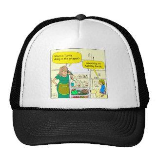 541 turtle in crisper cartoon trucker hat