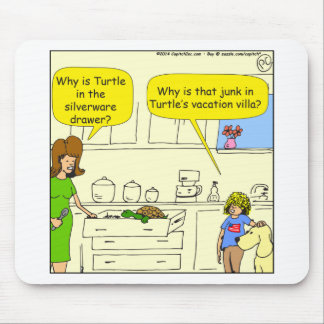 542 turtle in silverware drawer cartoon mouse pad