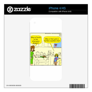 542 turtle in silverware drawer cartoon decal for the iPhone 4