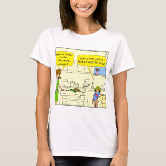 542 turtle in silverware drawer cartoon T-Shirt