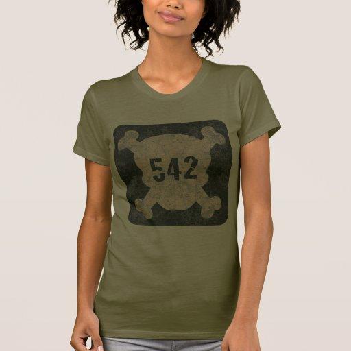 542 y bandera pirata camisetas