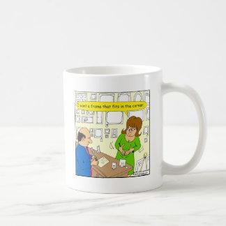 544 corner picture frame cartoon classic white coffee mug