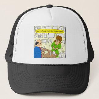 544 corner picture frame cartoon trucker hat