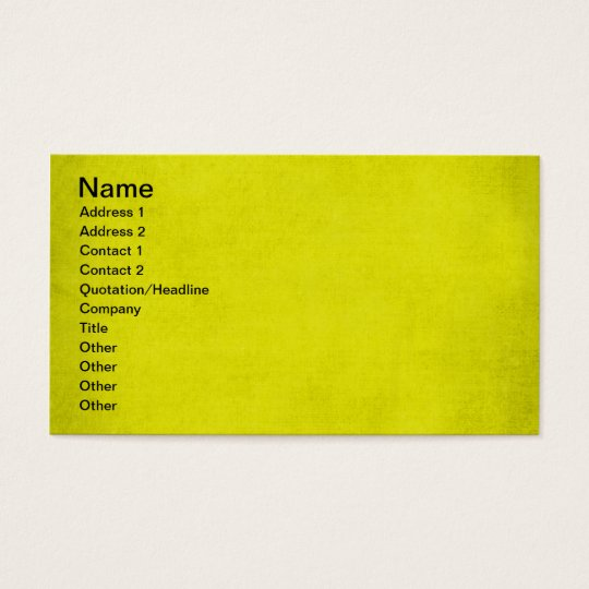 5453 SPORTS neon YELLOW BACKGROUND WALLPAPER DIGIT Business Card