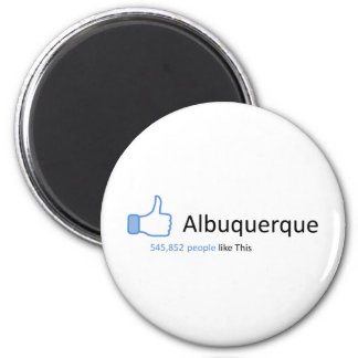 545852 people like Albuquerque 2 Inch Round Magnet