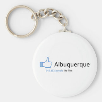 545852 people like Albuquerque Basic Round Button Keychain