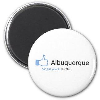545852 personas tienen gusto de Albuquerque Imán Redondo 5 Cm
