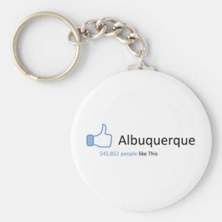 545852 personas tienen gusto de Albuquerque Llavero Redondo Tipo Pin