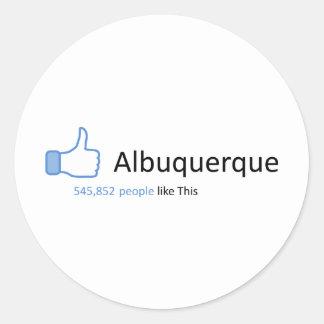 545852 personas tienen gusto de Albuquerque Pegatina Redonda