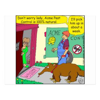 545 natural pest control cartoon postcard