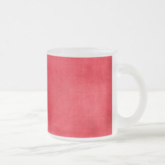 547 SOLID COZY WINTER RED TEXTURED TEMPLATES DIGIT FROSTED GLASS COFFEE MUG